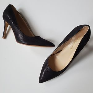 NEW   6.5   MARC FISHER   TEXTURED POINTY HEELS